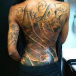 Tattoos on Woman's Body